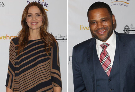 Saffron Burrows, nominee for Mozart in the Jungle and Anthony Anderson, star of Blackish