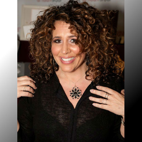 "Diana Maria Riva of NBC's ""Telenovela"" (Mimi Moncada) with Jamie Estelle Jewelry"