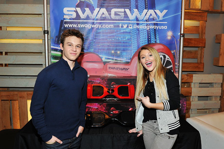 Actors Gavin MacIntosh and Brooke Sorenson