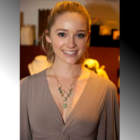"Greer Grammer of MTV's ""Awkward"" / Ms. Golden Globe 2015 with HeidiLee Design"