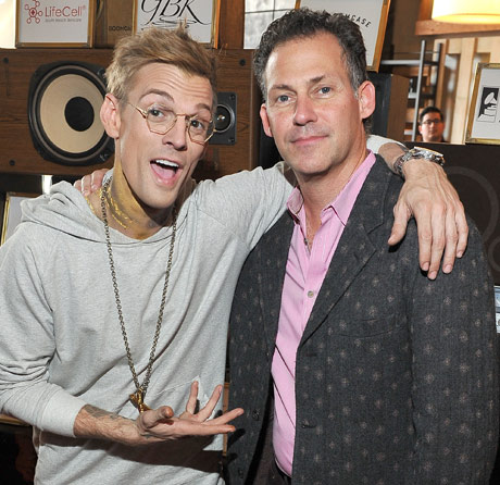 Singer Aaron Carter and CEO/Founder of GBK Productions Gavin Keilly