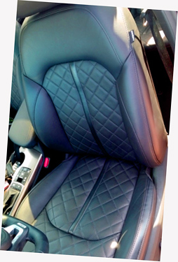 Great stitching on leather seats reminiscent of Chanel!