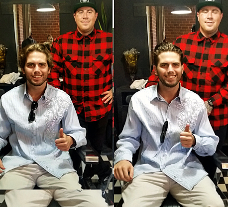Tyler Emery get a trim by Gents Cuts at the Movember Foundation