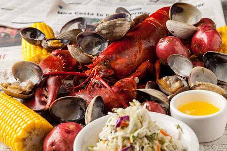 Bluewater Grill Redondo Beach Maine Lobster Clam Bake