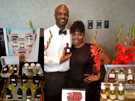 Dr. Shimeca Videau and husband at the Wow Creations Emmy gift lounge
