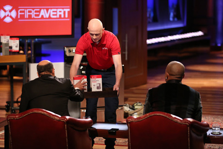 Firefighter and creator of Stop Kitchen Fires, Peter Thorpe. on Shark Tank