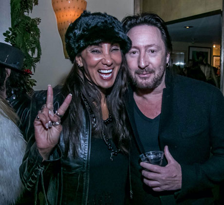 Downtown Julie Brown with Julian Lennon.