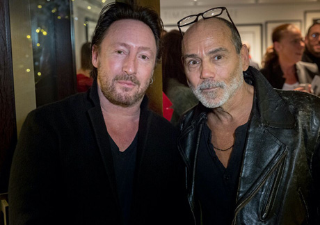 Timothy White with Julian Lennon