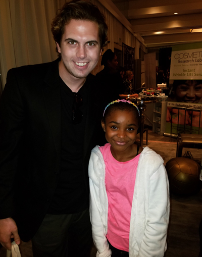 Tyler Emery with Syniaa Sidney