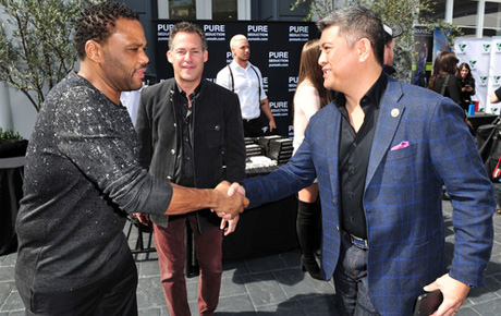 Actor Anthony Anderson and Daniel Vu