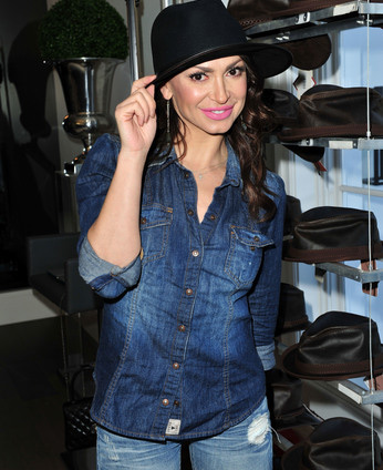 DWTS Karina Smirnoff with American Hats