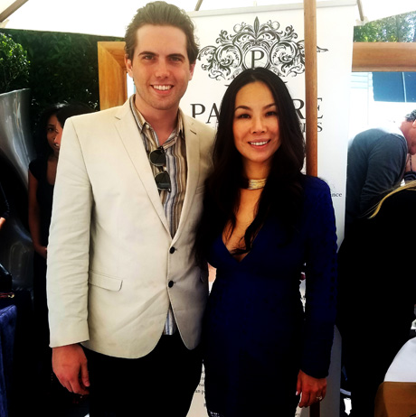 LATP's Tyler Emery with Dr. Winnie Moses, M.D. at the Pre MTV Movie Awards gifting suite in Beverly Hills.