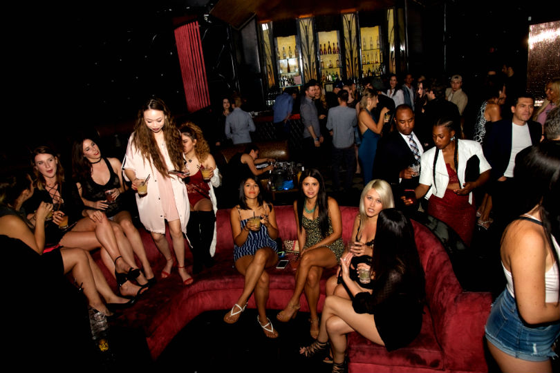 Hot 100 girls at Jeffrey Decker celebration