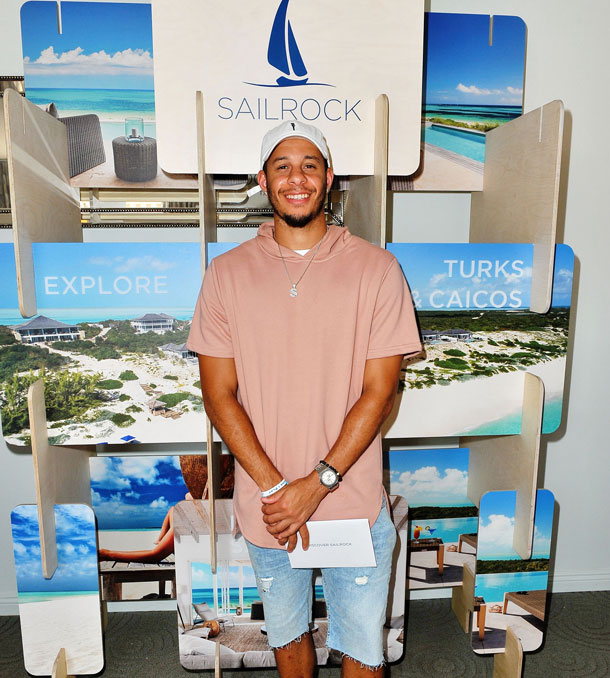 Seth Curry with SailRock Resort