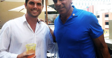 Tyler Emery with legend Lou Ferrigno. at the WOW Creations pre-Espy lounge.