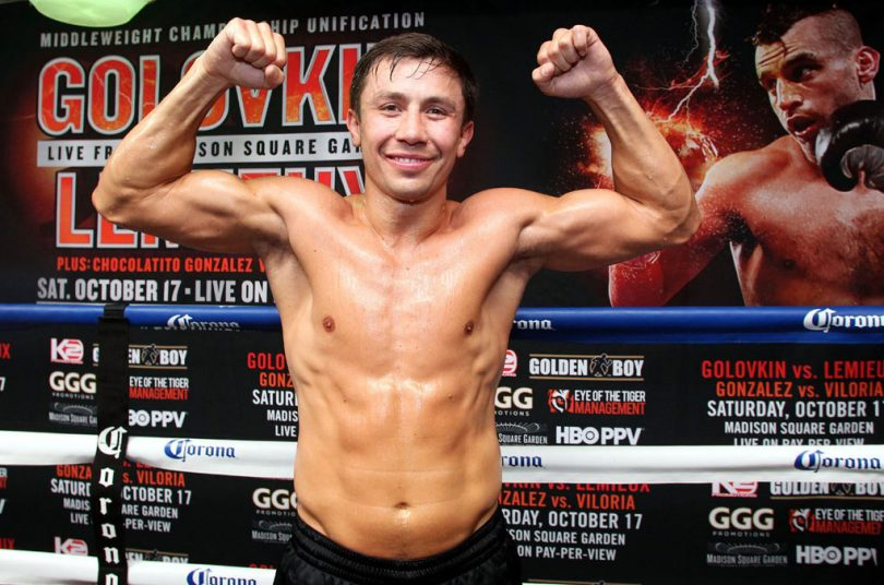 Boxer Gennady Golovkin currently holds the unified WBA (Super), WBC, IBF, and IBO middleweight titles.