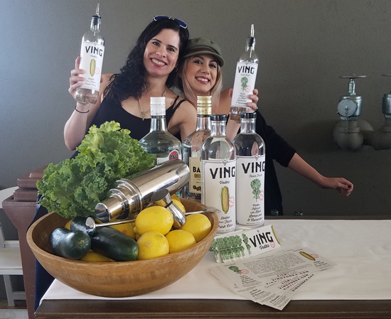 Ving Vodka creator Flo Vinger with associate.