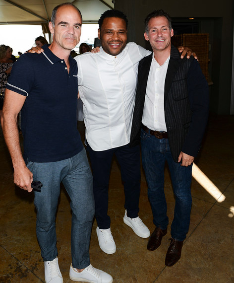 Michael Kelly, Anthony Anderson and GBK's Gavin Keilly