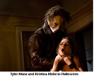 Tyler Mane and Kristina Klebe in Halloween
