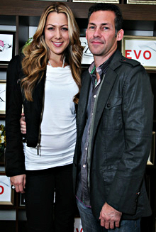 Singer Colbie Callet poses with Gavin