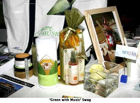 'Green with Music' Grammy Retreat Swag