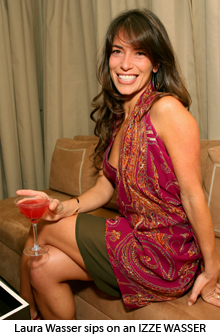 Laura Wasser at the IZZE event at Sunset Towers.