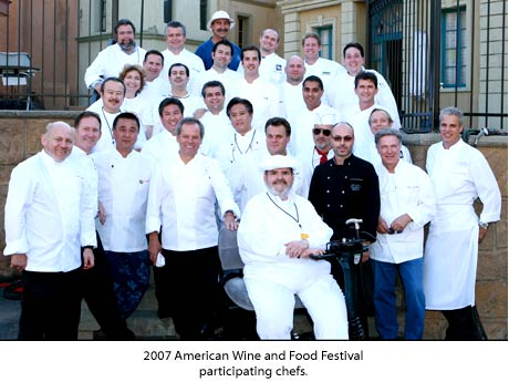 2007 chefs for the 25th Annual American Wine and Food Festival