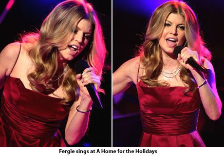 Fergie at A Home for the Holidays