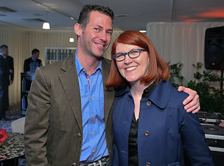 Keilly with The Office's Kate Flannery.