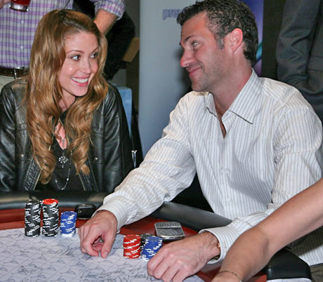 GBK held a special poker tournament the night before the Oscars to benefit Haiti, which raised another $20,000. Stars such as Shannon Elizabeth, shown here with Gavin Keilly, came out to show their support and have fun.