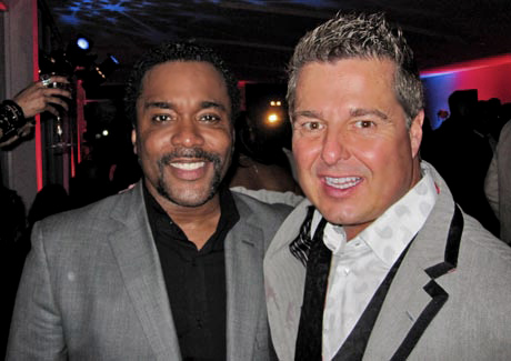 "Oscar-nominated ""Precious"" director Lee Daniels with David Johndrow."