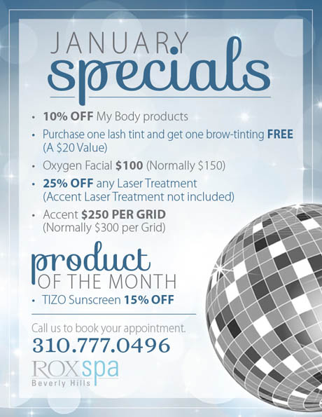 new year january beauty specials from the rox spa beverly