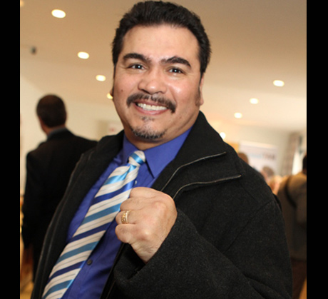 1984 Olympic boxing champ Paul Gonzalez at the lounge.