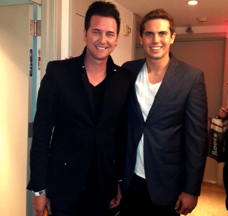 Project Runway All Star Aaron Henderson with LATP writer Tyler Emery.