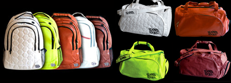 Zumba Sports Bags made from authentic sports ball materials.