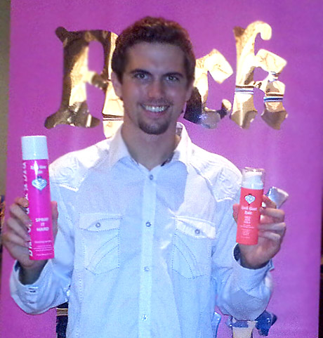 Tyler Emery with Rock Your Hair