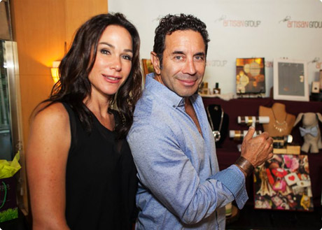 Dr. Paul Nassif with jewelry designer Karla Wheeler at the Primetime Emmy Lounge