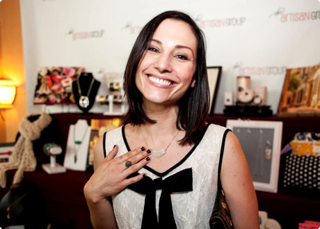 Heather McComb of Ray Donovan; Shameless; Bones; Rizzoli & Isles, with Camilee Designs.