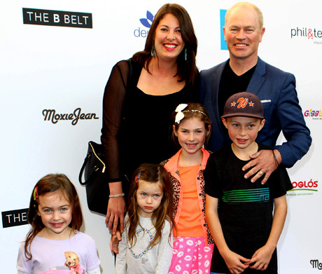 """""""Suits"""" Actor Neil McDonough and family at Secret Room Events"""