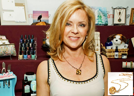 Jill Whelan of Love Boat with Fizz Candy Jewelry.