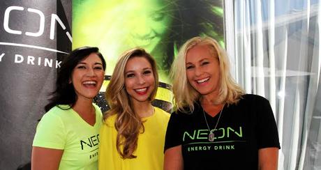 Kira Kazatsev Miss USA with Neon