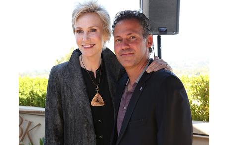 GBK's Gavin Keilly with Jane Lynch