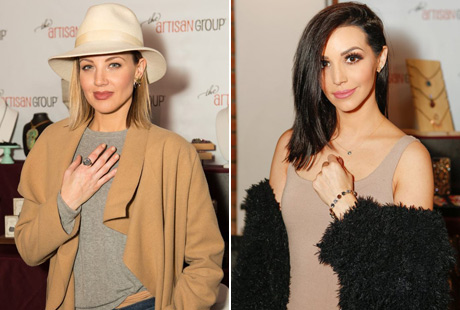 Brianne Davis of Six; True Blood; Jarhead with Fizz Candy Jewelry. Scheana Marie Shay of Vanderpump Rules with Nikki Nakks at the 2017 GBK Gifting Lounge in honor of the Golden Globes