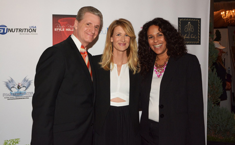 Roger and wife, Lynn Neal with Laura Dern