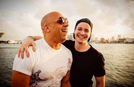 Vin Diesel, Kygo (photo credit: @kygomusic Instagram