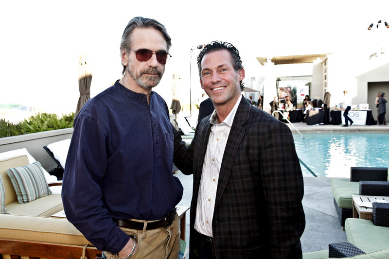 Gavin Keilly with actor Jeremy Irons