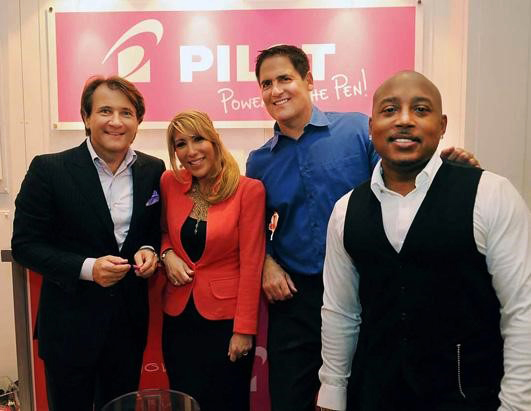 Cast of Shark Tank at a GBK event