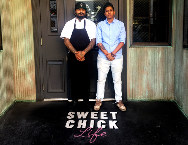 Mixologist Anthony Sferra and Sweet Chick Shantal Ramchal, both from the NYC Sweet Chick