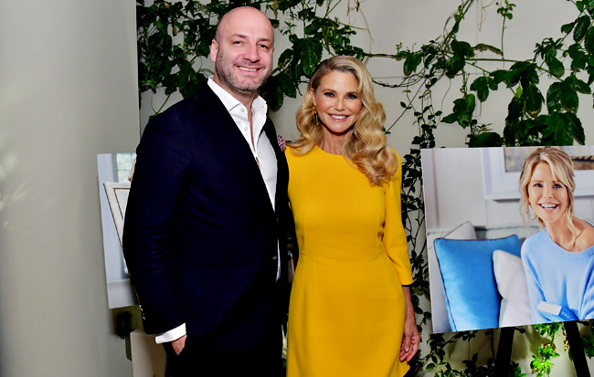 Roberto Casas (L) and Christie Brinkley attend Christie Brinkley Celebrates Her Partnership With Merz Aesthetics at Waldorf Astoria Beverly Hills on January 18, 2018 in Beverly Hills, California. (Photo by Stefanie Keenan/Getty Images for Merz Aesthetics)