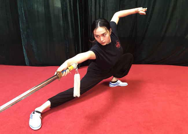 Accomplished martial artist, actress Shudan Wang